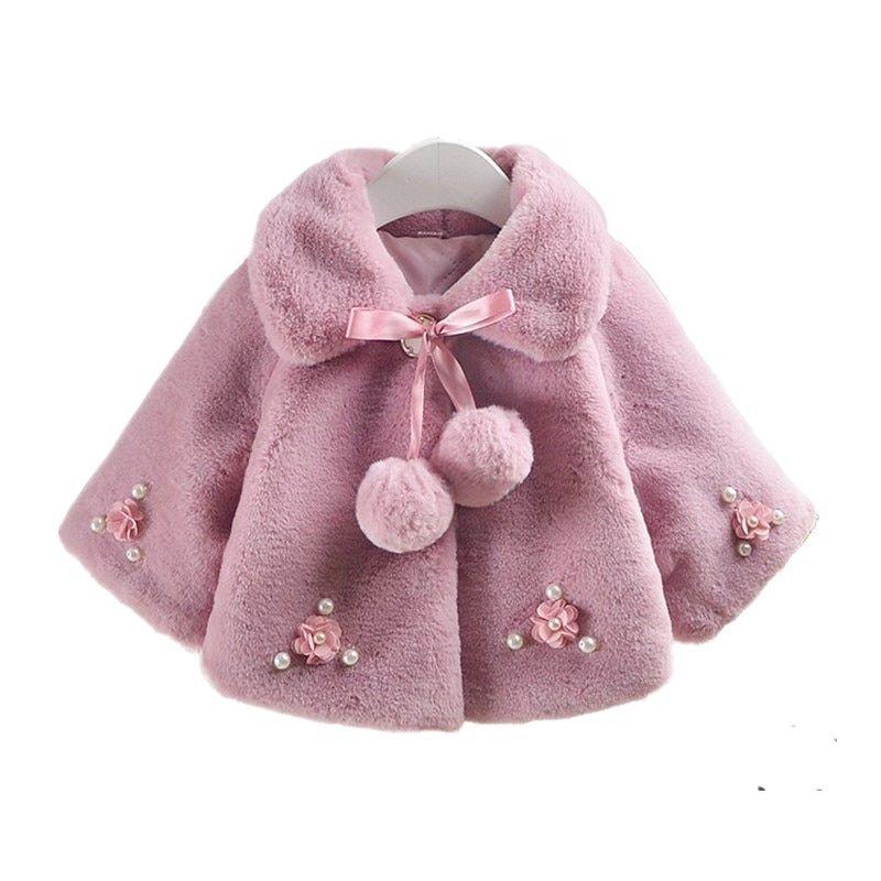 6d907f38496 Winter Meisjes Jassen Faux Fur Snowsuit Baby Jas Kinderkleding ...