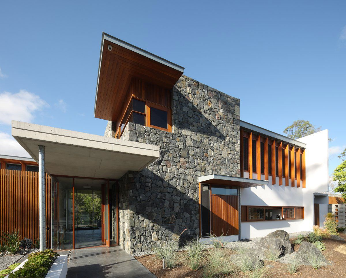 One Wybelenna By Shaun Lockyer Architects Rustic Stone Warm Wood In A Modern Building