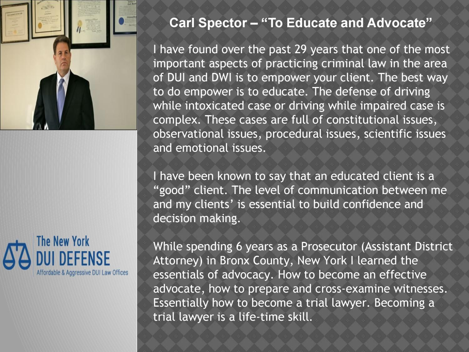 Dui Expert Dui Lawyer New York Lawyer Education New York