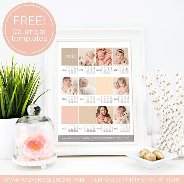 Free Photo Wall Calender Templates For Photographers 2017 2016 Calendar Photography Photographer Marketing