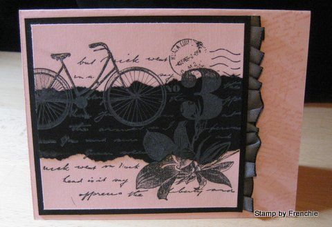 2 tone collage card