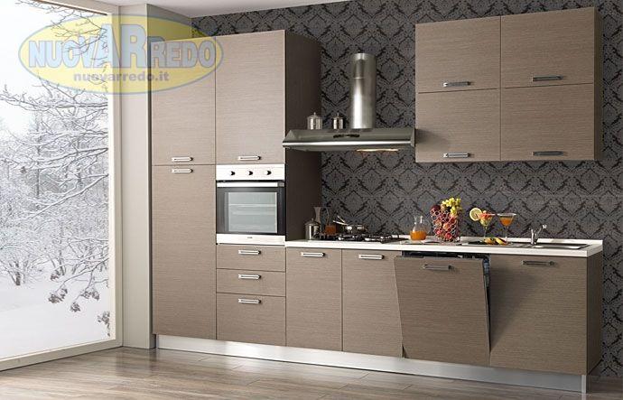Prezzo: € 1590 Cucina con anta larice grigio completa di ...