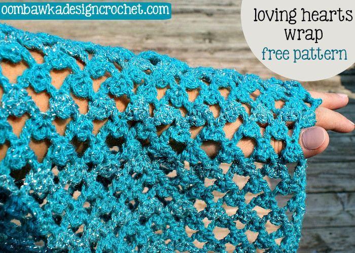 Free Pattern Loving Hearts Wrap