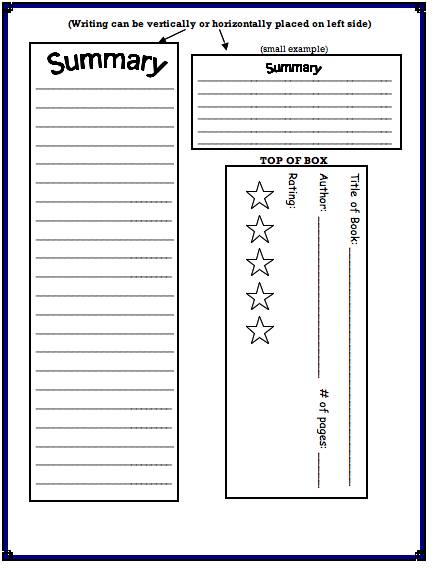 cereal box book reports template cereal box book report template