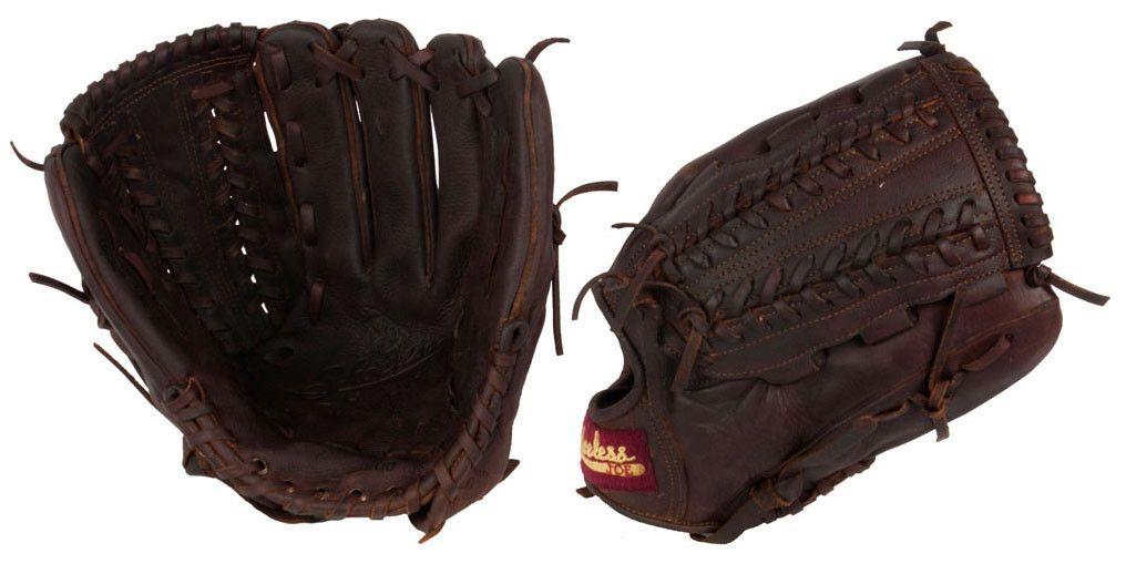 """12"""" V-Lace Shoeless Joe Baseball Glove - 1200VLR - Handmade and Broken-In"""
