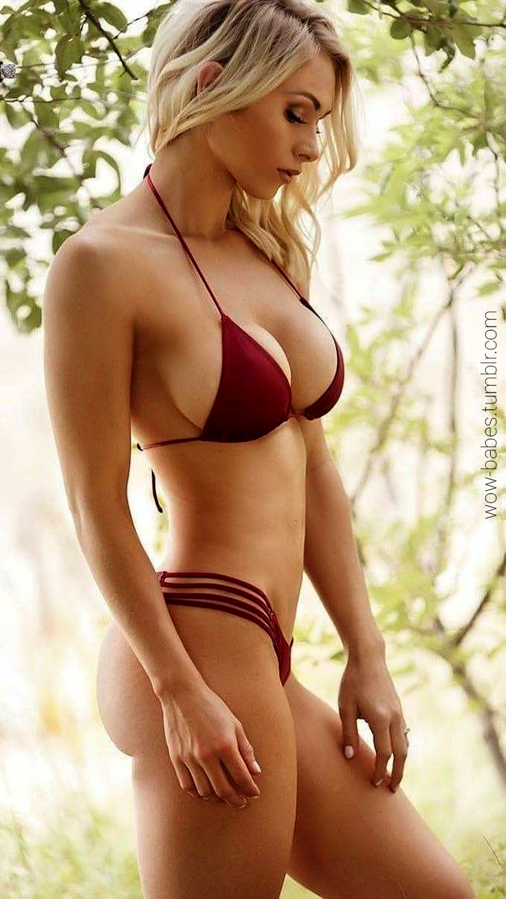 Wow Babes Blonde In Red Bikini Wow Babes Tumblr Com