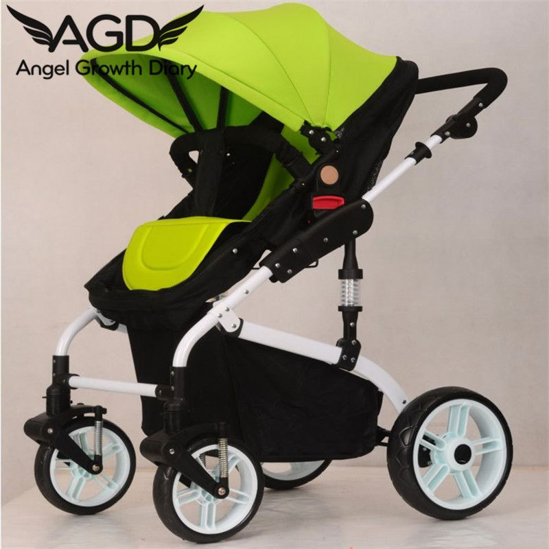 Find More Strollers Information about 2016 New Arrival Baby Stroller High Landscape Lying Four Round Folding Stroller Two way Portable Stroller Baby Car Suspension,High Quality stroller wholesale,China car baby stroller Suppliers, Cheap car nitro from Angel Growth Diary on Aliexpress.com