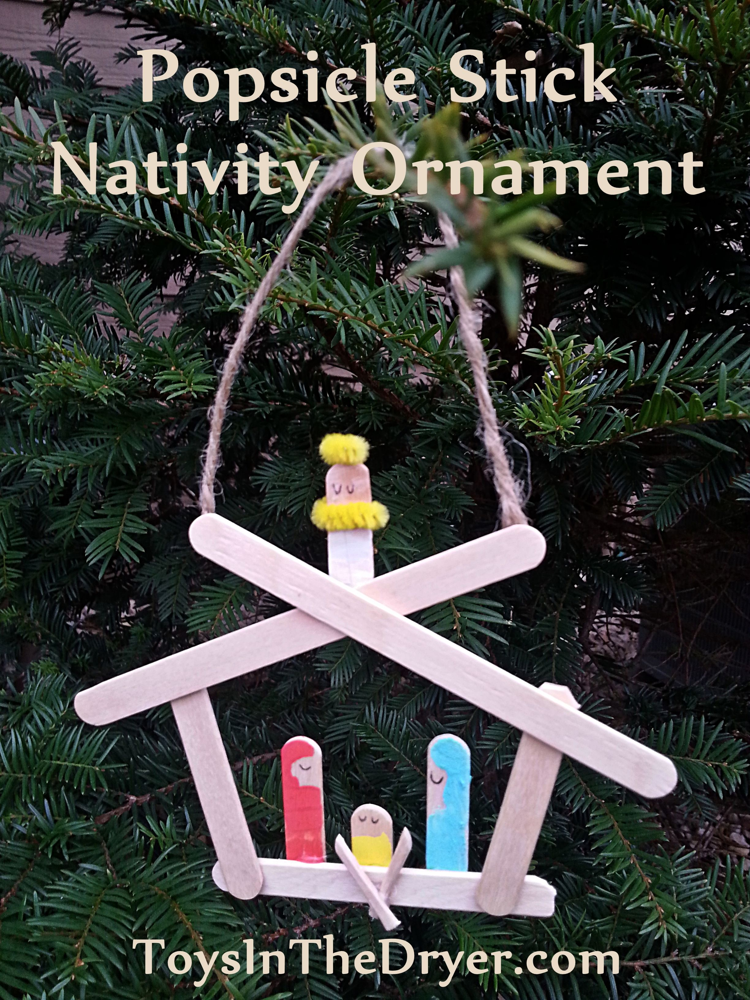 How to make a Nativity ornament out of popsicle sticks