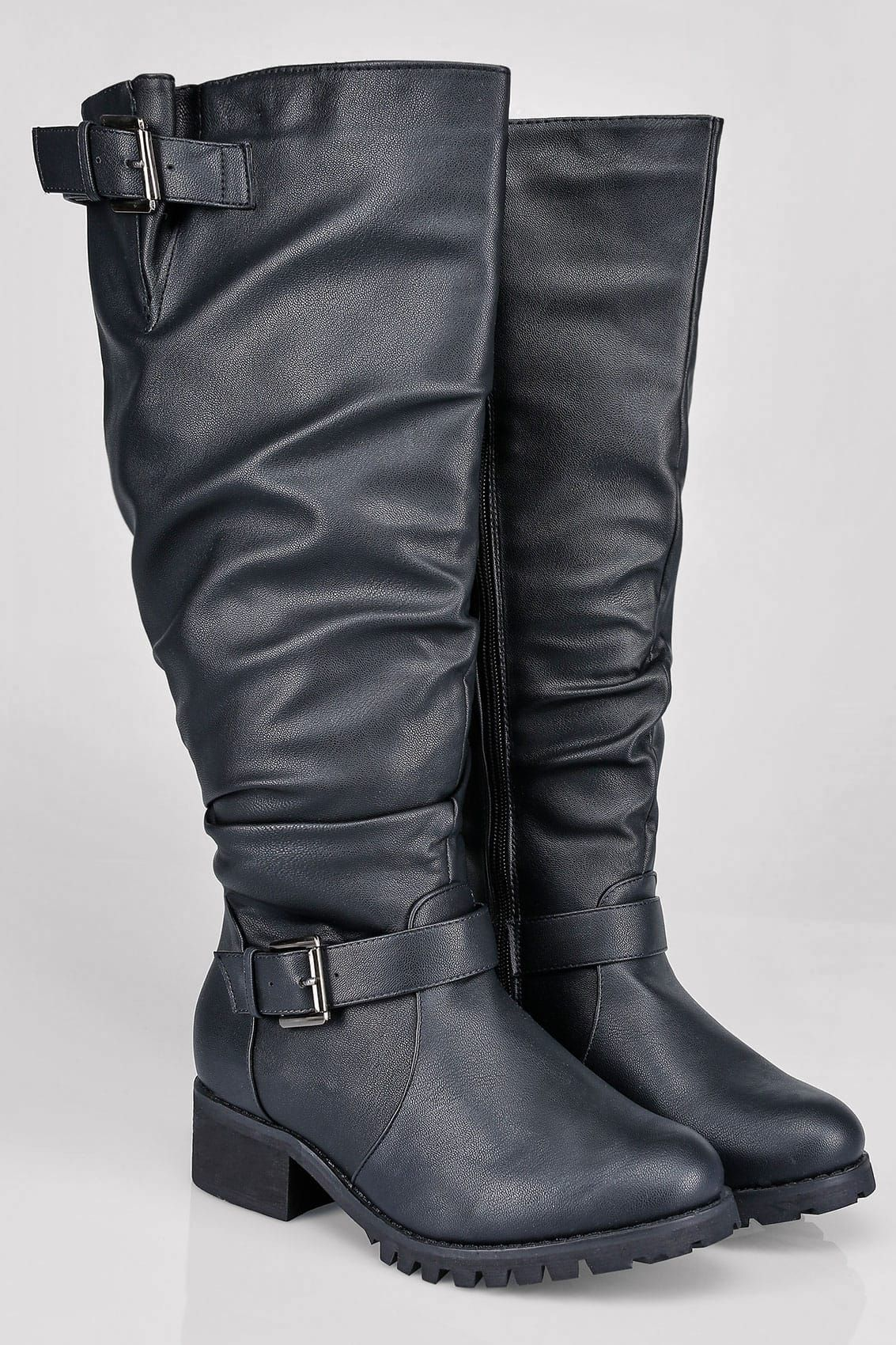 Boots, Wide fit knee high boots, Knee high