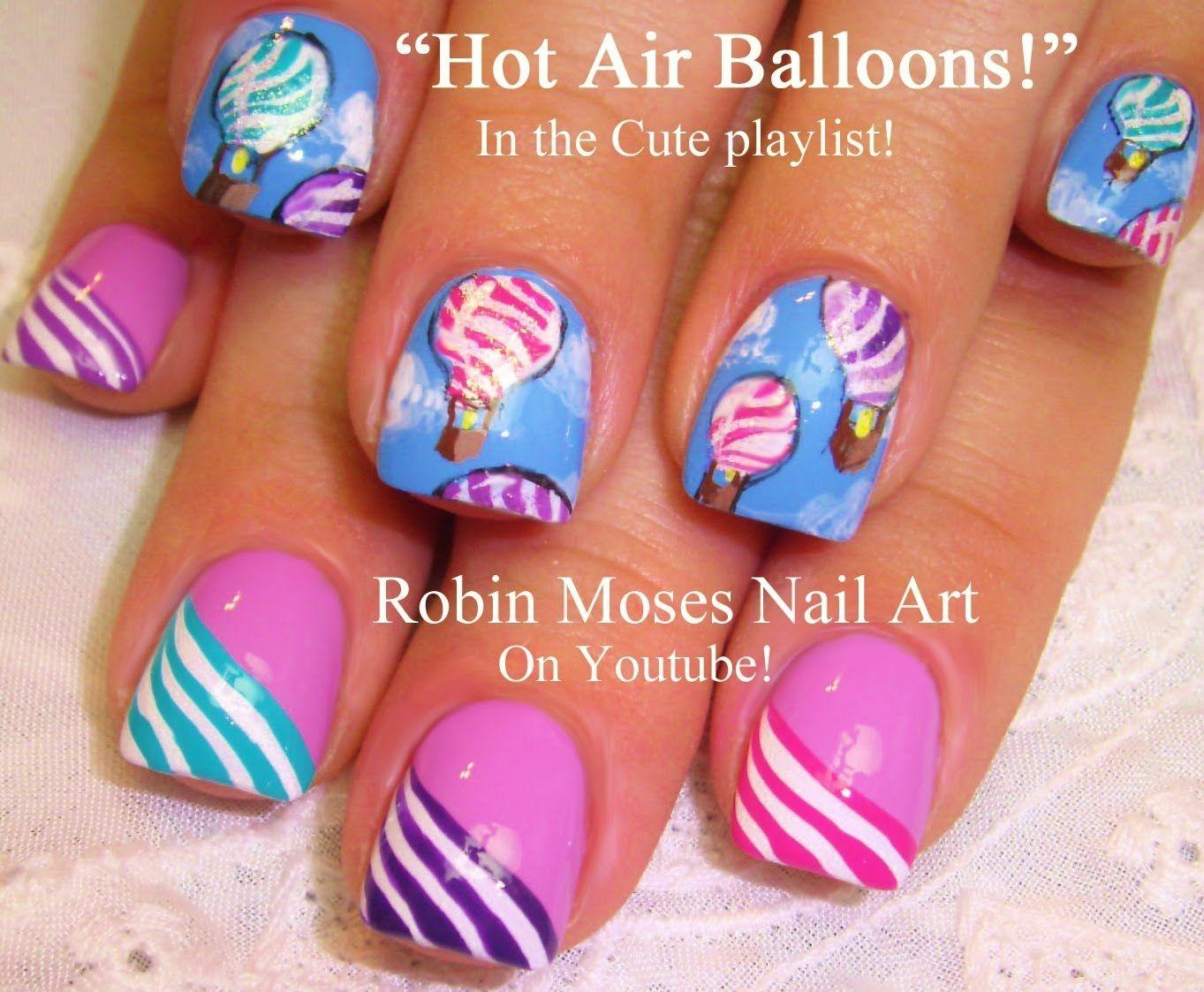 2 Nail Art Tutorials | DIY Nail Art for Short Nails | Hot Air ...