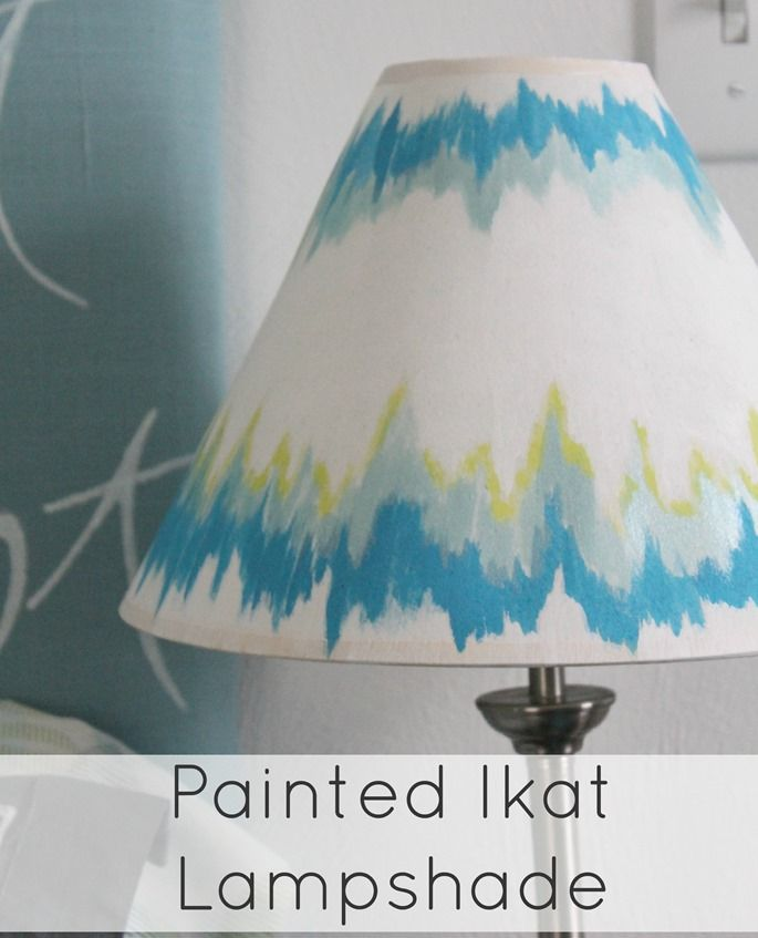 Painting A Lampshade Gorgeous Painted Ikat Lampshade  Molly  Pinterest  Crafty And Crafts 2018