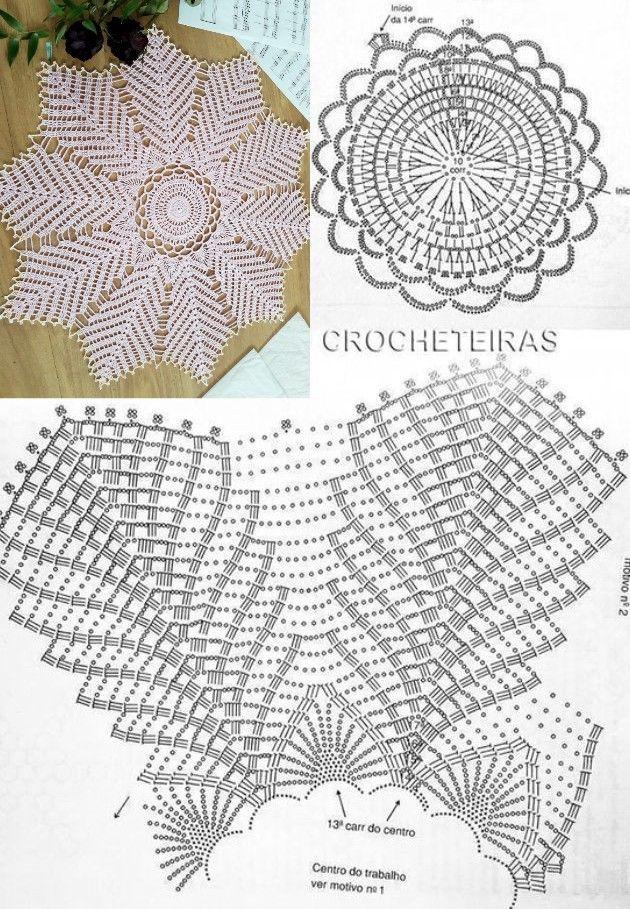 Patrones de tapetes tejidos a crochet para imprimir