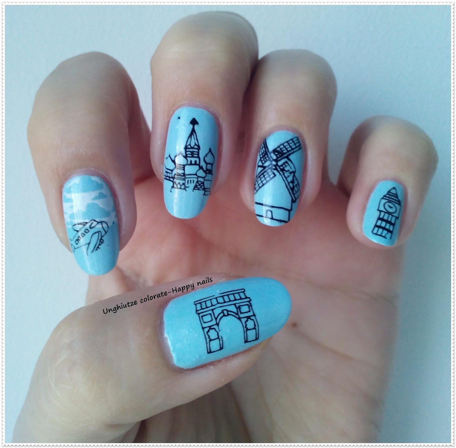 nail art challenge - Letter J