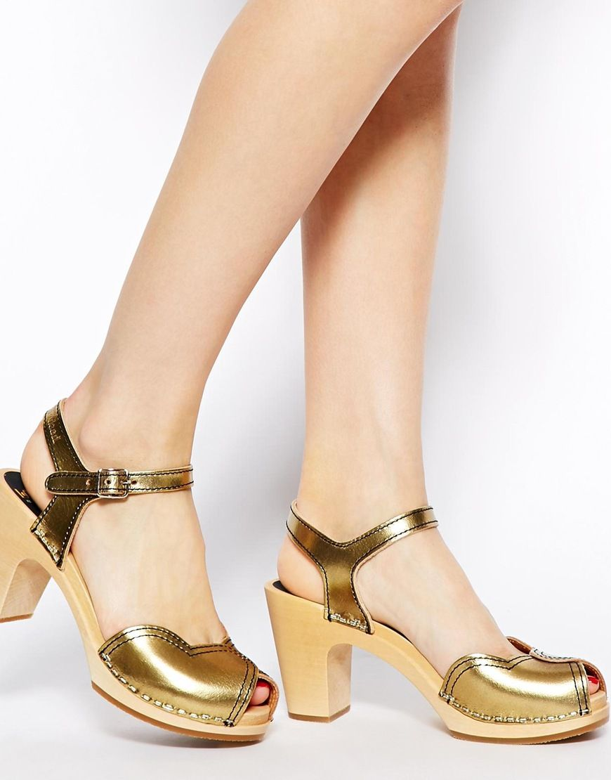 ASOS   Online Shopping for the Latest Clothes & Fashion. Swedish HasbeensGold  HeartCute ShoesHeeled ...