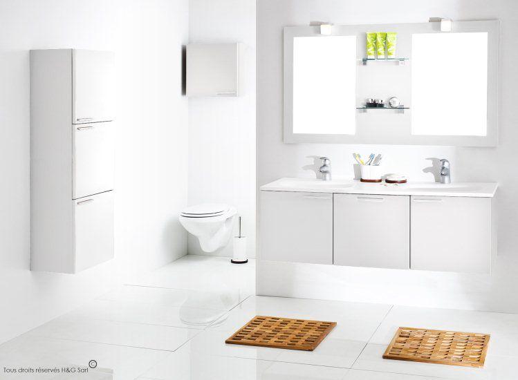 Ces #meubles modernes pour salle de bains, de finition blanche mat