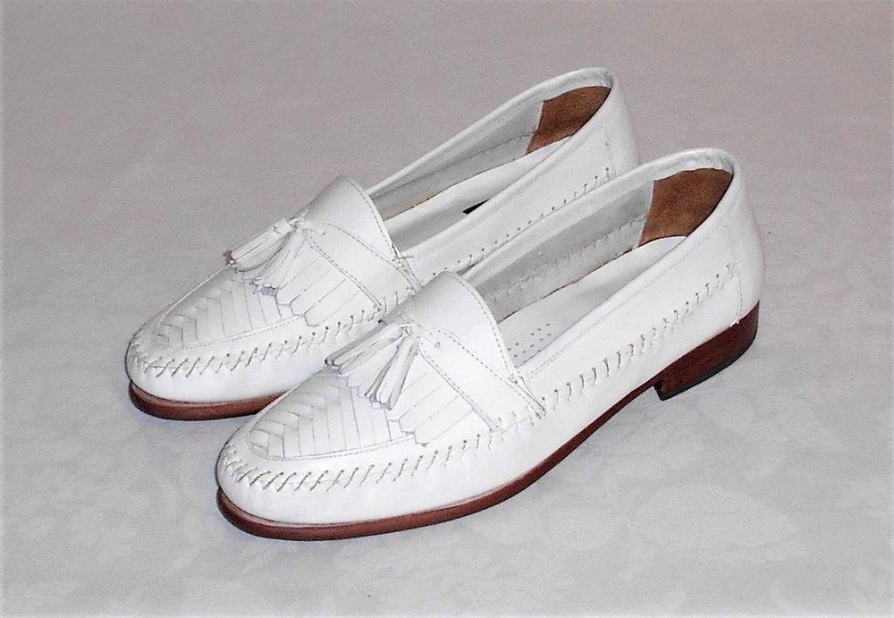 1897055109c3a Giorgio Brutini Le Glove White Kiltie Tassel Loafer Slip On Men's Size 10 D  #GiorgioBrutini #LoafersSlipOns