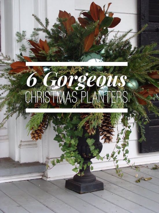 get inspired for your outdoor holiday decorating with these gorgeous christmas urns