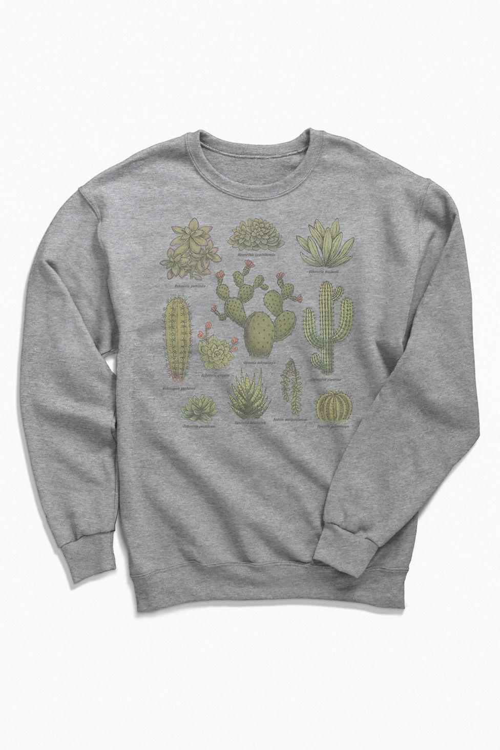 Botanical Cacti Crew Neck Sweatshirt Urban Outfitters Sweatshirts Crew Neck Sweatshirt Sweatshirt Shirt [ 1463 x 976 Pixel ]
