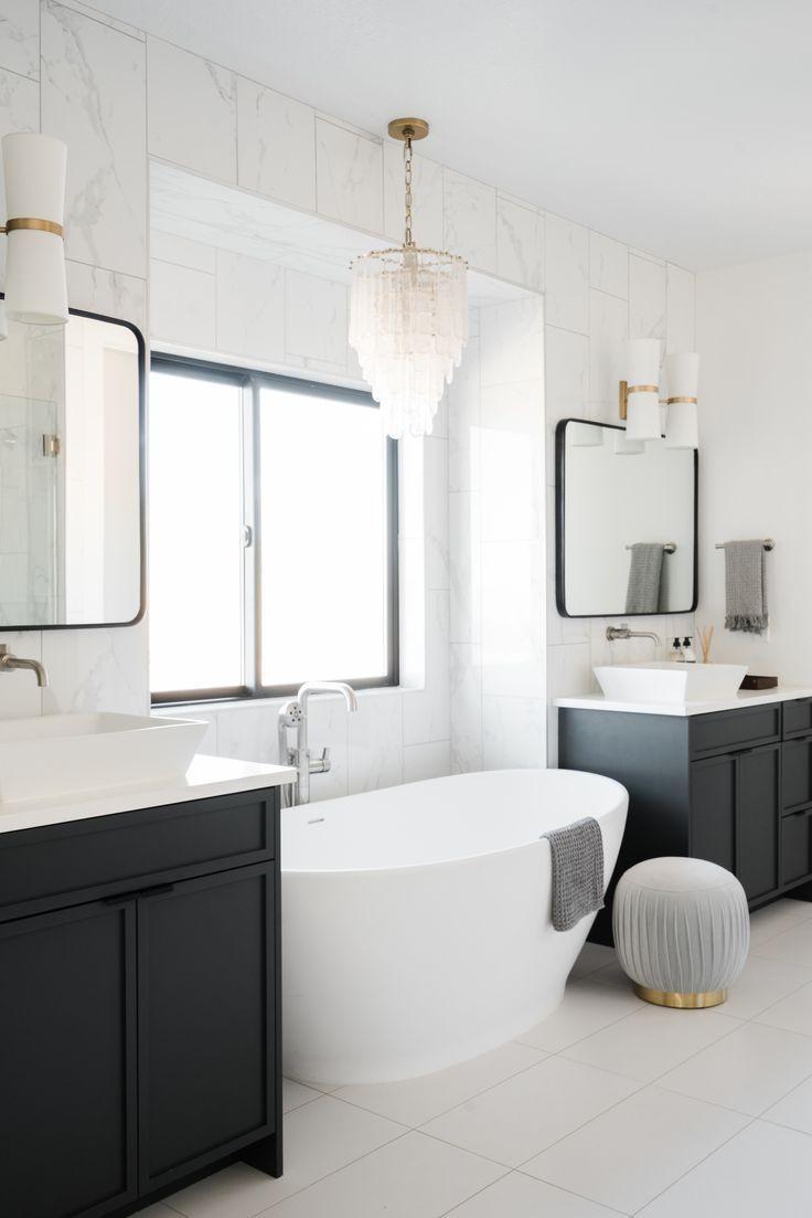 53 Best Master Bathroom Remodel Ideas On A Budget That Will Inspire You 17 Bathroom Remodel Master Free Standing Tub Bathroom Lighting