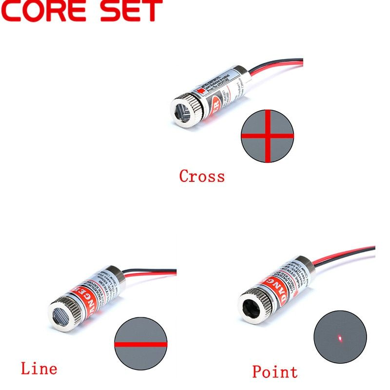 New Focusable 5mW 650nm Red Cross Line Laser Module Focus Adjustable laser Head