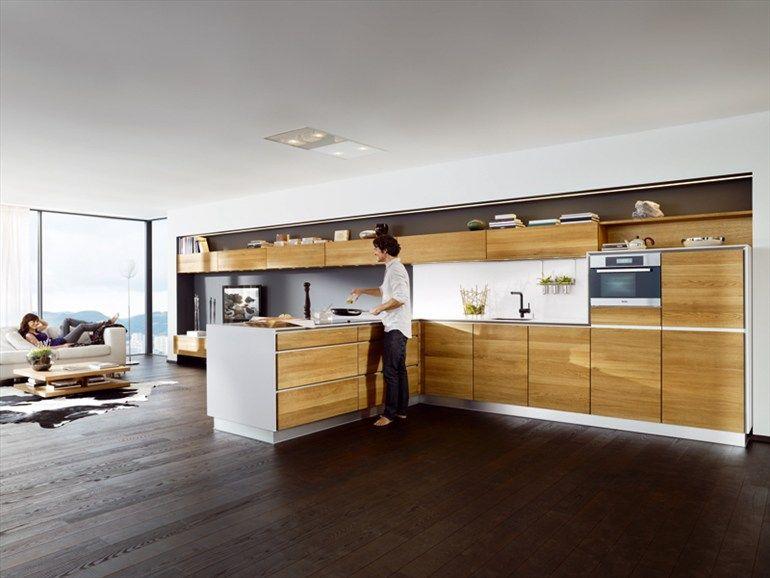 WOODEN KITCHEN WITH ISLAND VAO TEAM 7 NATÜRLICH WOHNEN kitchen - küchen team 7