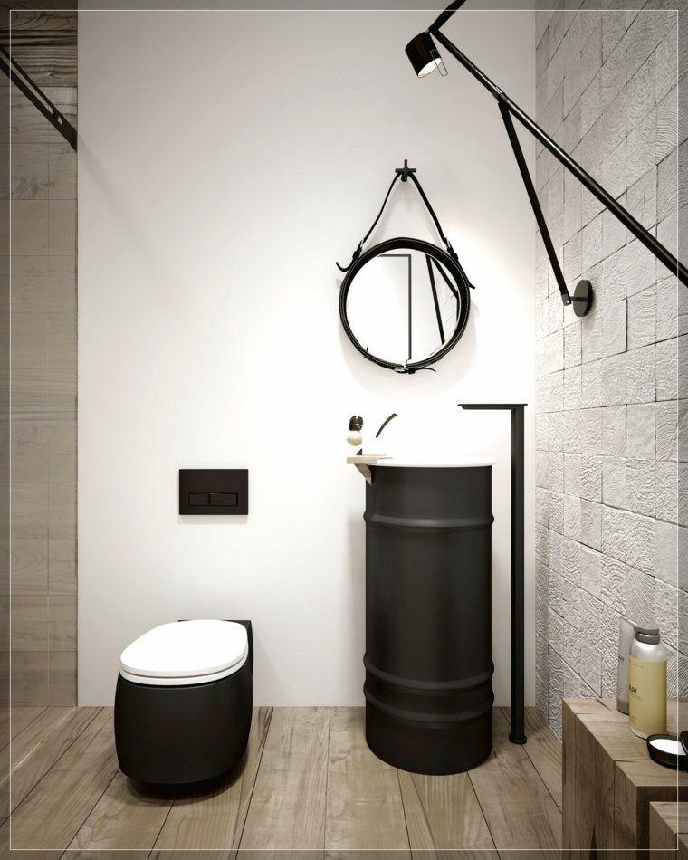 décoration de toilette wc de style industriel