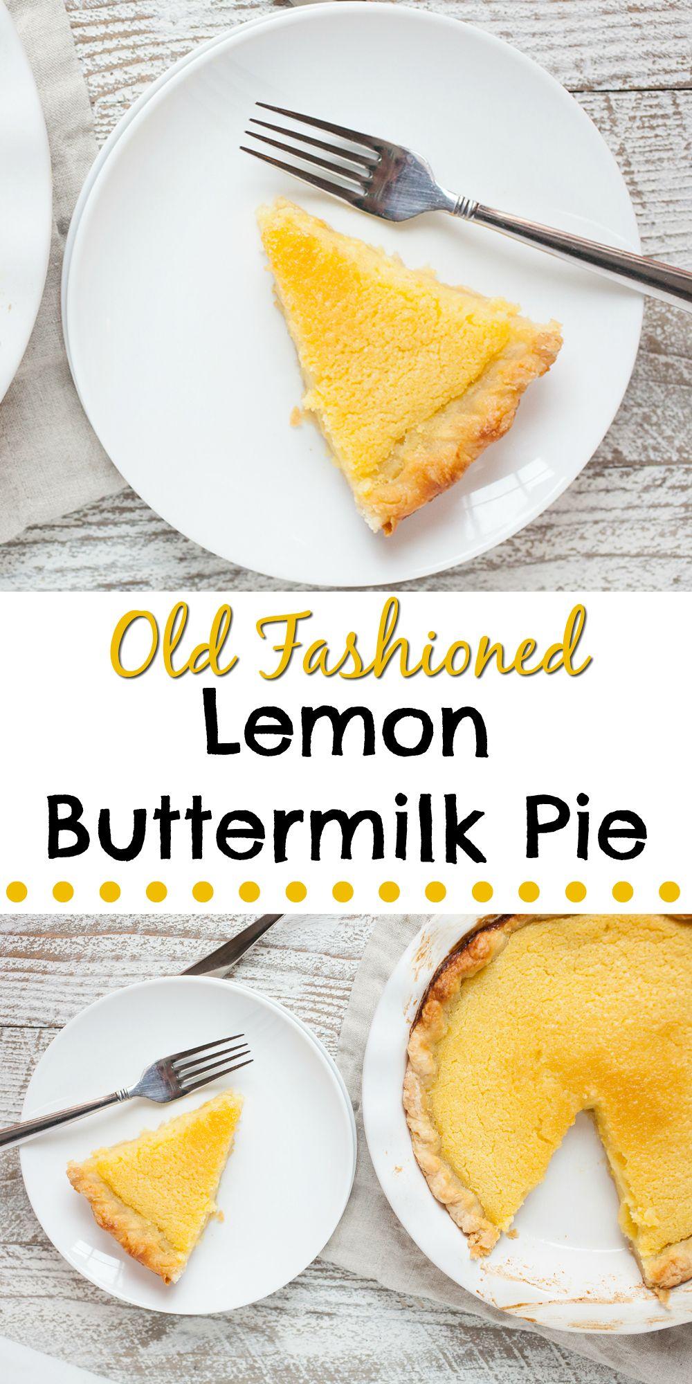 Old Fashioned Lemon Buttermilk Pie Recipe Dessert Recipes Easy Mr Food Recipes Homemade Recipes Dessert