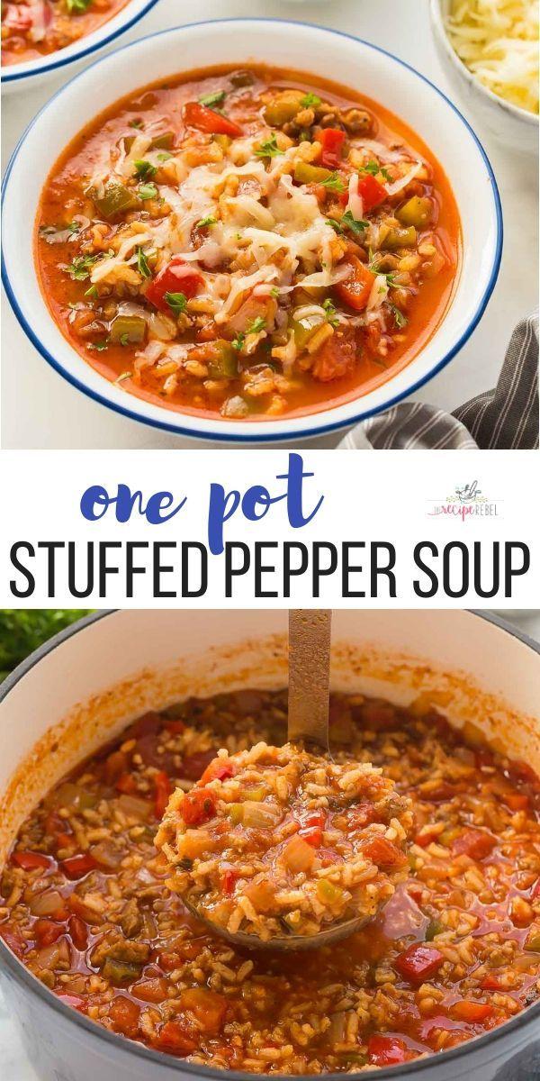 Photo of # Sopa de recetas saludables # Pimienta # Sopa # Rellena Esta sopa de pimiento relleno es un sabor …