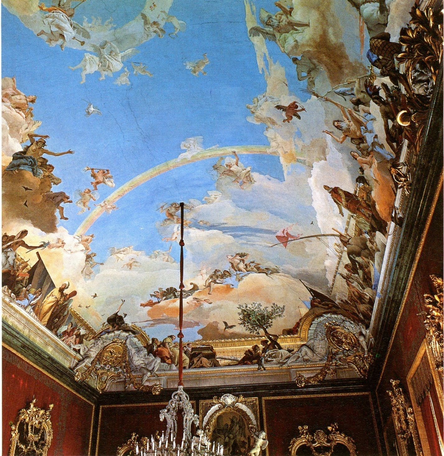 Tiepolo ceiling painting wall canvas pinterest ceilings tiepolo ceiling painting dailygadgetfo Gallery