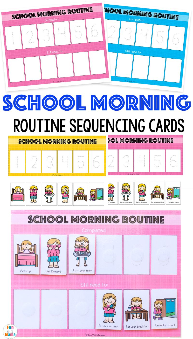 Kids Schedule Morning Routine For School School Morning Routine