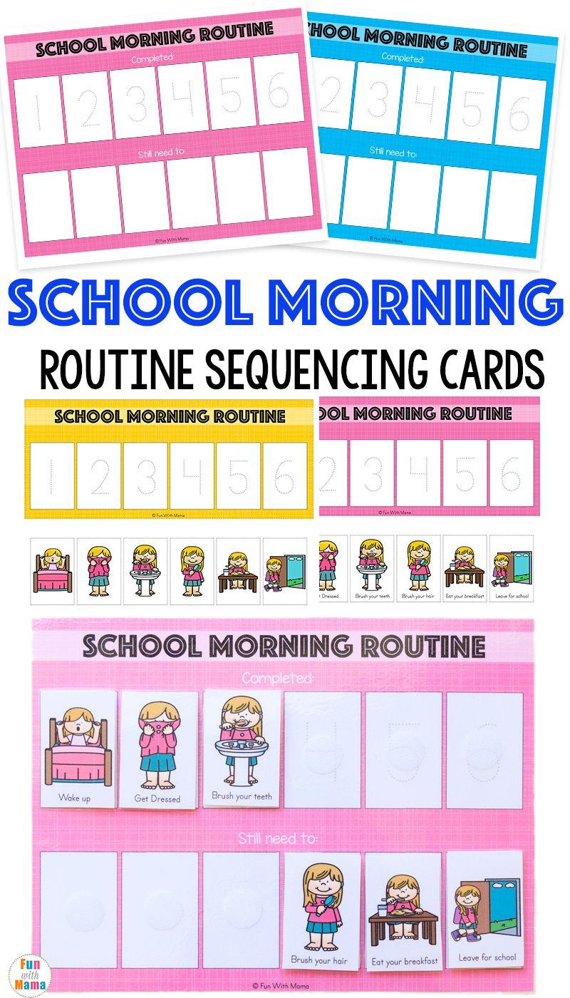 Kids Schedule Morning Routine For School Kids schedule