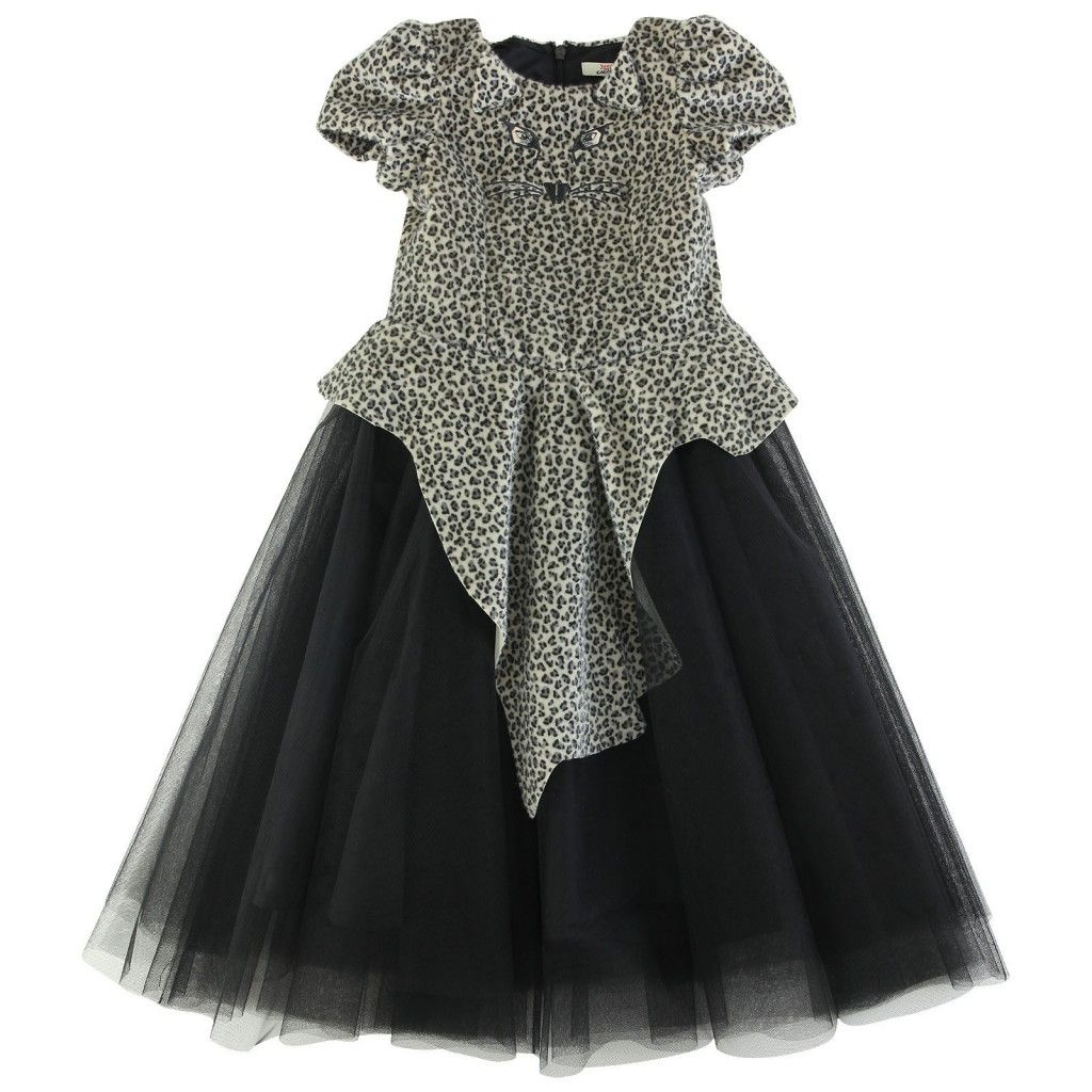 High fashion most wanted junior gaultier girls leopard print black