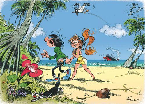 Gaston en vacances | Franquin, Dessin rigolo, Bd gaston lagaffe