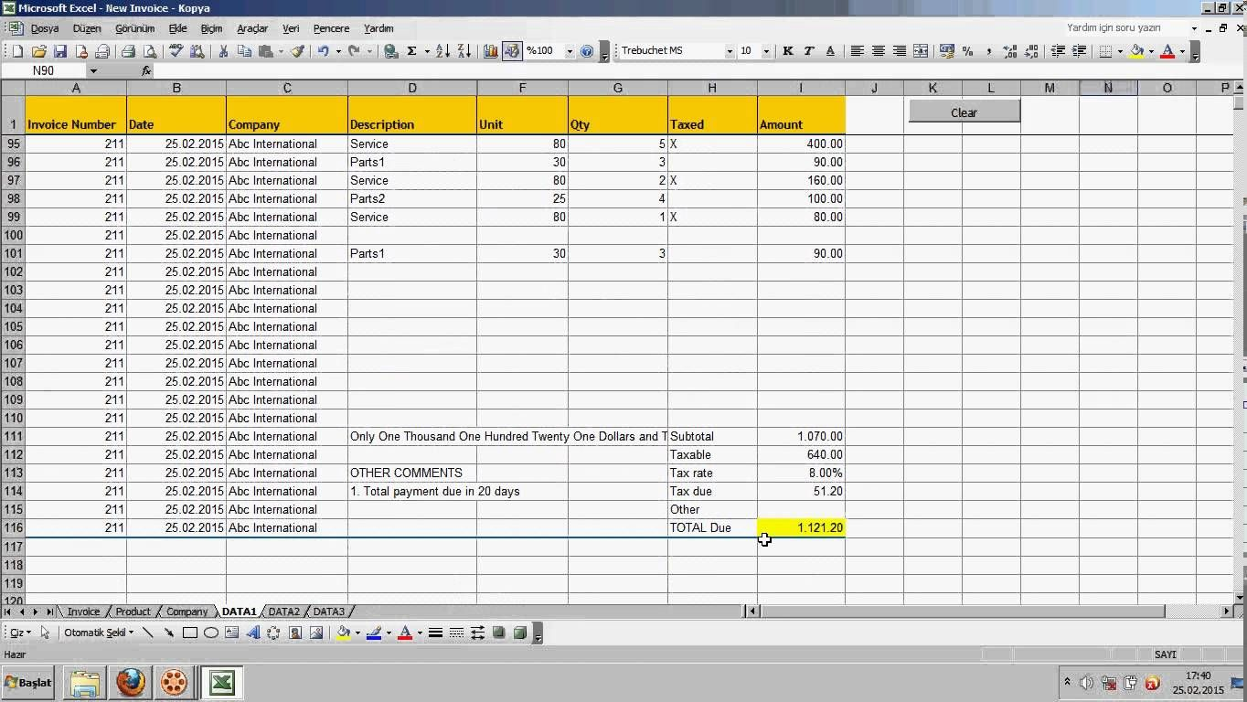 Excel Automated Invoice  Saves Data  Excel Tutorials And Excel