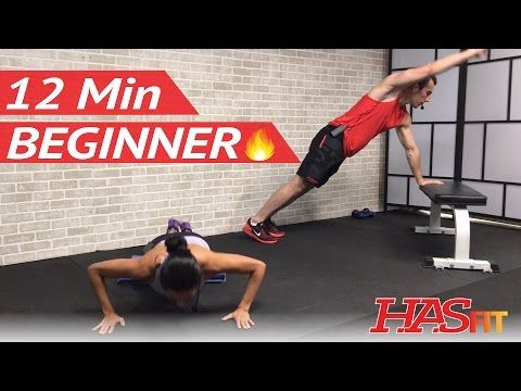 12 min beginner hiit workout without equipment at home