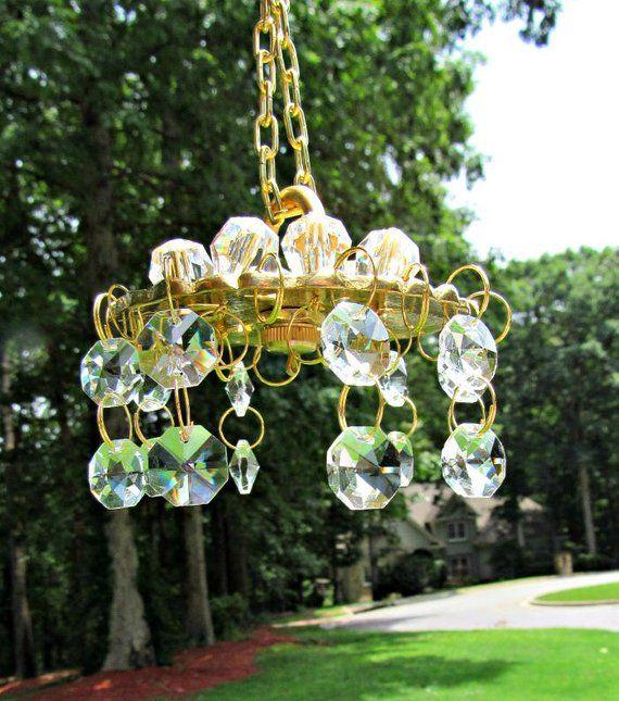 Wind Chime Canopy Brass Bobeche Wind Chime Crystal Wind Chime Parts Diy Wind Chime Make A Wind Wind Chimes Crystal Wind Chimes Wind Chime Parts