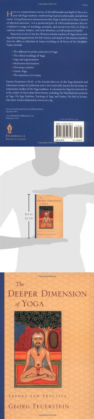 The Deeper Dimension Of Yoga Theory And Practice Yoga Yoga Books Yoga Store