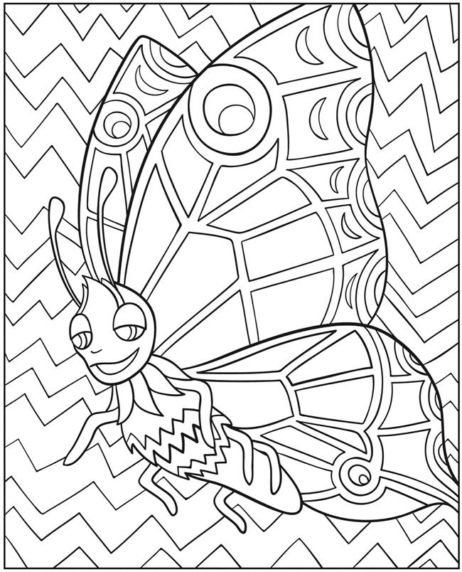 Welcome To Dover Publications Wonder Wings Butterfly Coloring Book