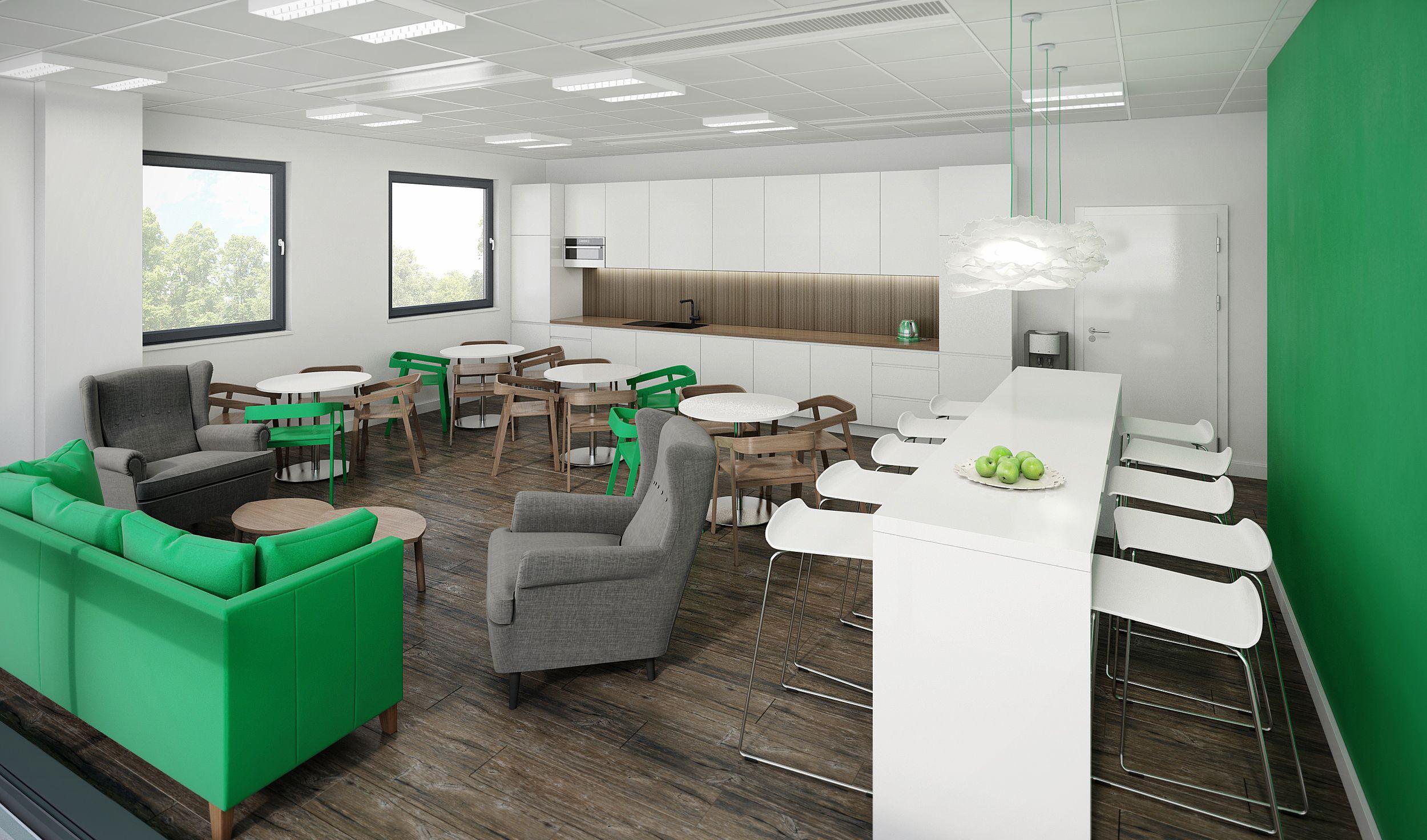 Pomieszczenie Socjalne Dla Selena W Silver Forum Wrocaw Kitchen For In The Office Building