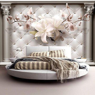 vlies fototapete tapeten xxl wandbilder tapete steppmuster blumen b a 0313 a a decken und. Black Bedroom Furniture Sets. Home Design Ideas