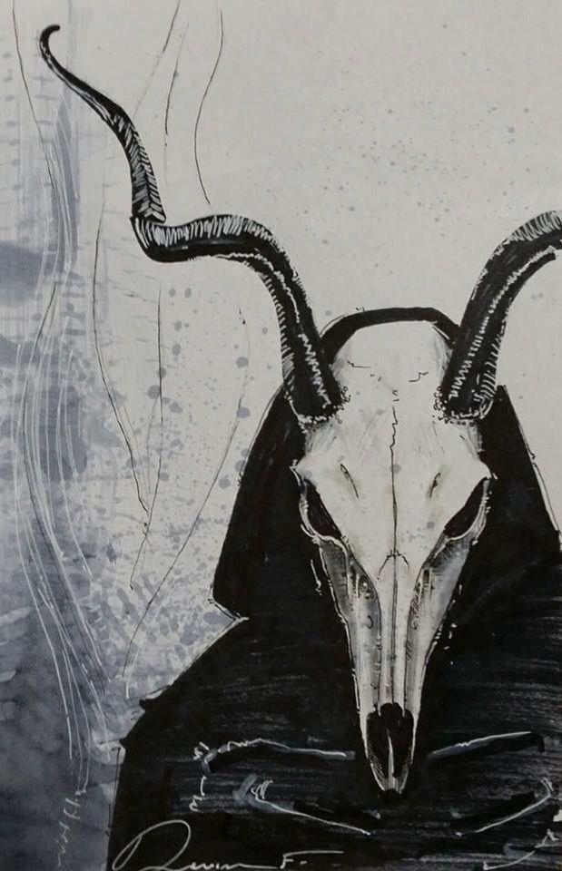 Demon Skull Satanic Art Art Black Art