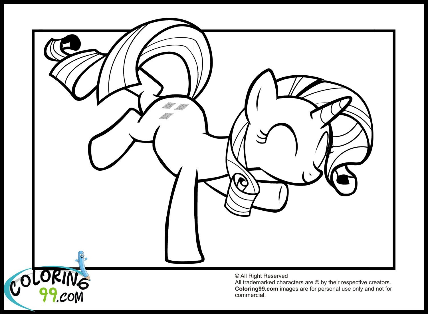 My little pony coloring pages rarity in dress - Jumping Rarity My Little Ponyrarity4 Kidscolouring