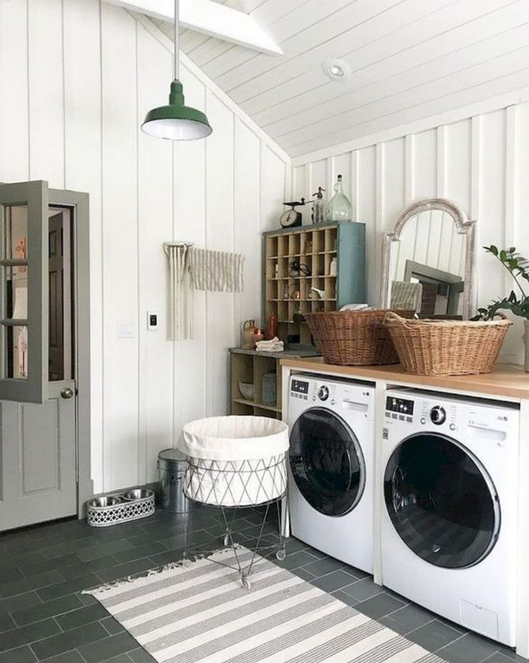 40 Stunning Laundry Room Design With French Country Style Laundryroom Laundryroomdesign Laun Laundry Room Design Modern Laundry Rooms Laundry Room Makeover