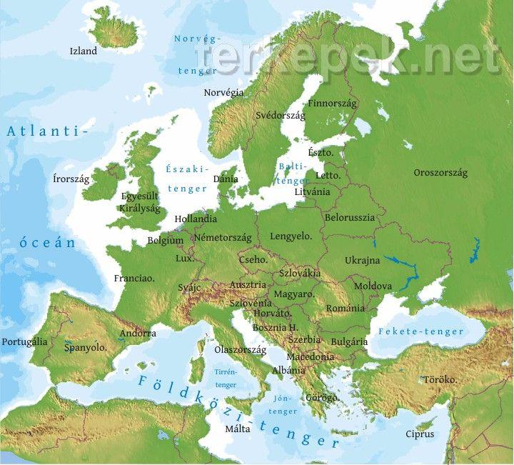 interaktív európa térkép Európa térkép | Europa | Pinterest interaktív európa térkép