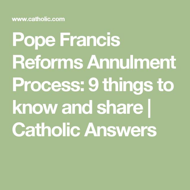Annulment catholic answers