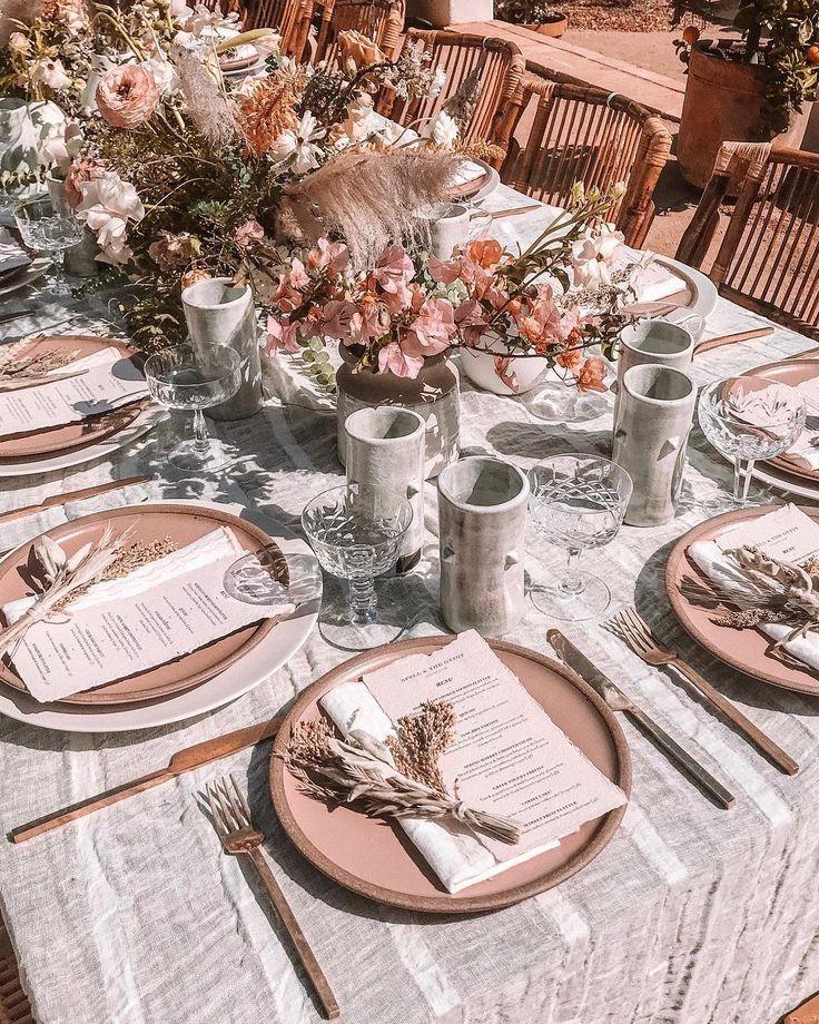 Derrick Jamie Bohemian Garden Wedding 19: Rustic Tablescape / Spell Byron Bay In 2019