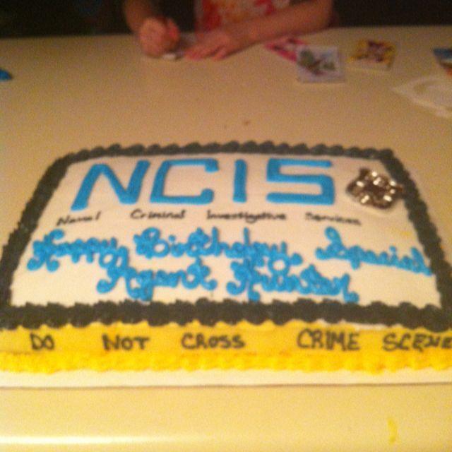 My nephews NCIS birthday cake Cakes Pinterest NCIS Birthday