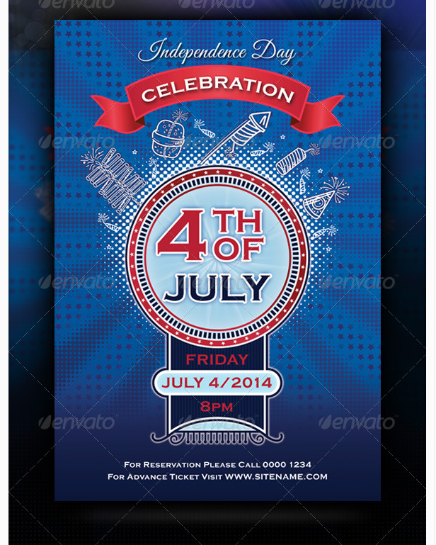 High Quality Independence Day 4th Of July Flyer Template   Party Flyer Templates For  Clubs Business U0026 Marketing