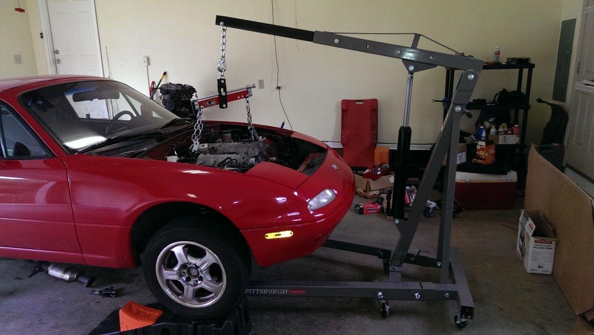 Removing A Miata Engine From A 1997 Na Mazda Miata Miata Miata Engine Mazda Miata