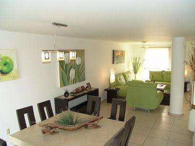 Casas en venta y departamentos home pinterest casas for Decoracion casas pequenas sala comedor